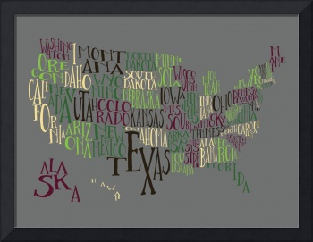 Swampland US Typography Map