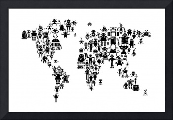 Robot Map of the World Map