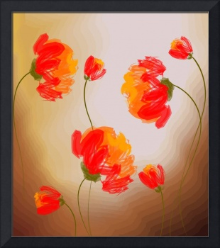 Digital painting of flowers