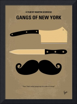 No195 My Gangs of New York minimal movie poster