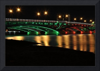 Kenneth F. Burns Memorial Bridge- Christmas Lights