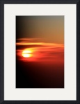Sunset at 40,000 ft by Jacque Alameddine