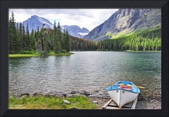 Finding Joy on Swiftcurrent Lake (with text captio