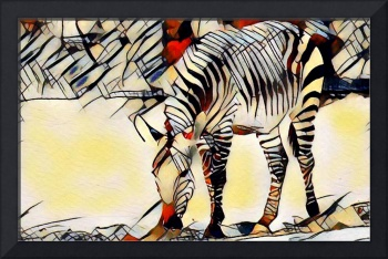 Zebra Animal Art Print