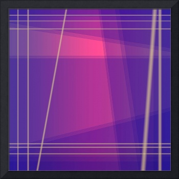 Fun with Colors Abstract Crossing Lines 2