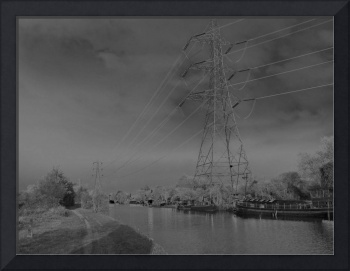 Canal Solarised Photographic Art, Landscape.