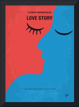 No600 My Love Story minimal movie poster