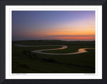 The River Cuckmere at Sunset, East Sussex UK