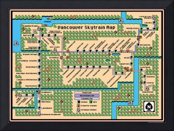 Vancouver Skytrain Map