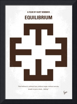 No595 My Equilibrium minimal movie poster