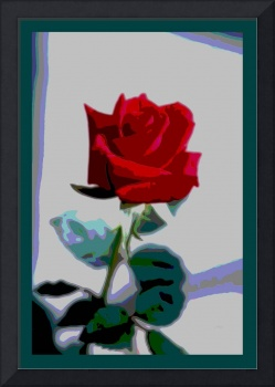 Red Rose Enhanced small border