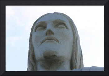 Christ the Redeemer face close-up