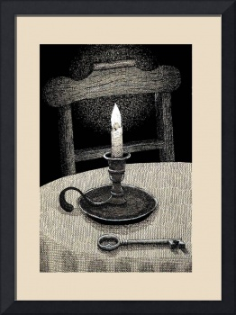 Chair, Candle, Key