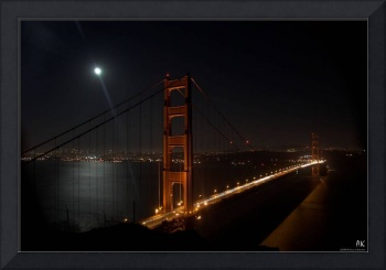 Full moon over Golden Gate Bridge
