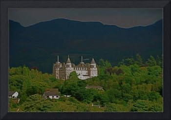 Castle in the Perthshire Foothills of Scotland