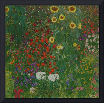 Farm Garden with Flowers, 1906, by Gustav Klimt