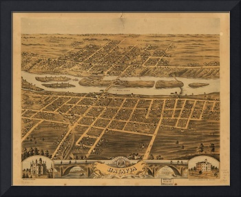 Bird's eye view of Batavia, Kane County, Illinois