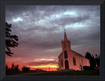 Bodega Catholic Church Sunset