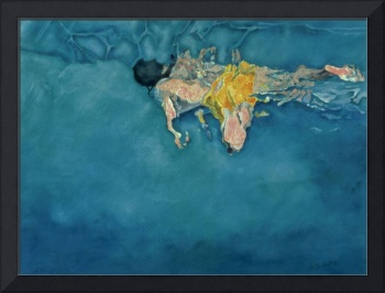 Swimmer in Yellow by Gareth Lloyd Ball