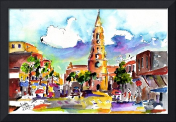 Charleston North Market Street & Church Painting