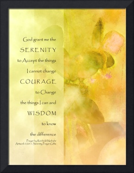 Serenity Prayer Orchids Yellow Green