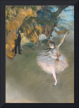 The Star/Dancer on the Stage, by Degas, c1876-77
