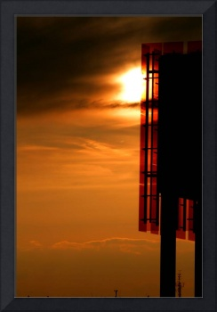 Sunset Silhouette Architecture Photograph for Sale