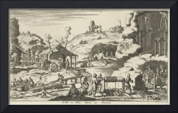 Gold and silver mines in Hungary, Jan Luyken, 1682