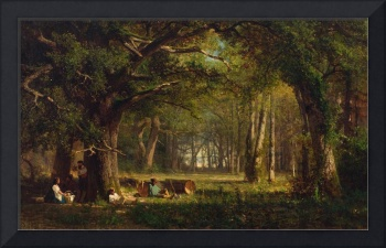 THOMAS HILL (1829-1908) Woods at Fontainebleau (18