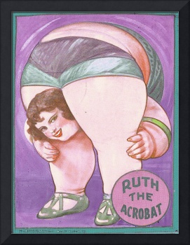 Ruth The Acrobat Circus Poster
