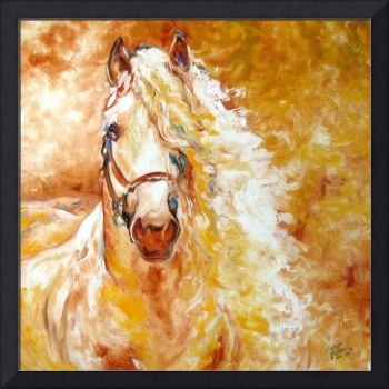 GOLDEN GRACE ANDALUSIAN by M BALDWIN FINE ART