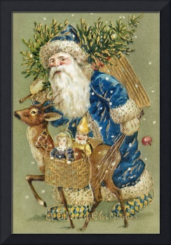 A Merry Christmas Vintage Christmas Card