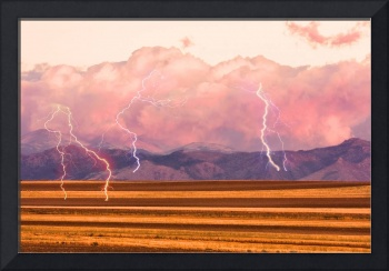 Boulder County Farm Fields Lightning Fantasy