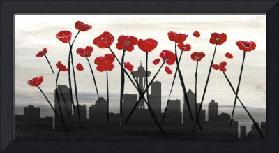 Decorative Skyline Abstract  Seattle T1115X1