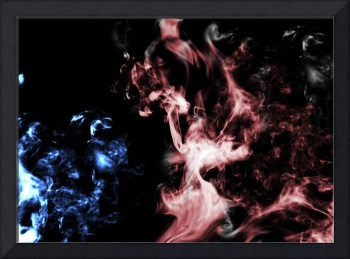 Blue and Red Smoke
