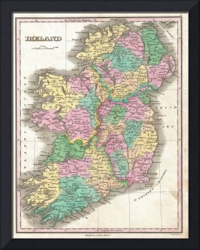 Vintage Map of Ireland (1827)