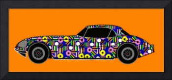 LONVIG RETRO Car with Liqourice Allsorts_Painting