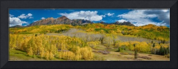 Kebler Pass Autumn Season Panorama