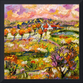 Provence Summer Landscape Oil Painting