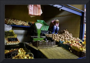 Budapest Fruit Stand Woman