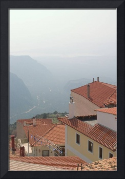 Delphi view from restaurant