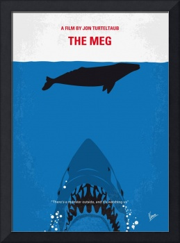 No985 My MEG minimal movie poster