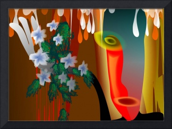Abstract paintings of flowers