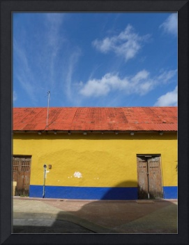 Yellow Wall Blue Sky