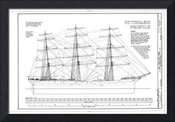 Balclutha Ship Outboard Profile Diagram