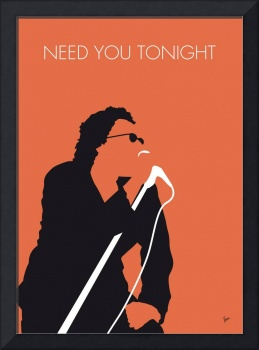 No033 MY INXS Minimal Music poster