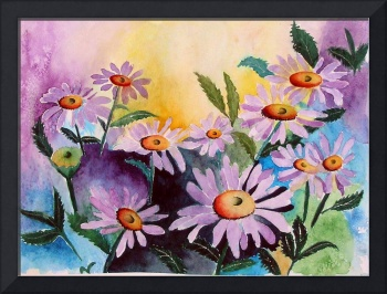 Lazy Daisies Watercolor