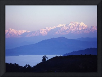 View Of The Himalayas In Gorkha Region Nepal