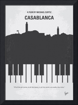 No192 My Casablanca minimal movie poster