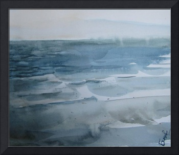 Breeze - Baltic seascape - watercolor